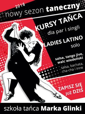 KURS TAŃCA dla początkujących (dla singli i par) - tańce towarzyskie, salsa i tańce dyskotekowe (weselne):  m.in dla par przygotowujących się do wesela w tym pierwszego tańca. (3 m-ce: marzec-czerwiec, 16 lekcji x1,5h)  START: 14 MARCA 2016 (poniedziałek) GODZ: 20.30 - spotkanie organizacyjne  MIEJSCE: D.H.OLIMP Siedlce ,ul. Sokołowska 47 (Centrum Rehmedica)    ZAPISY I SZCZEGÓŁOWE INFORMACJE: Marek Glinka, tel. 601991189, poczta@marekglinka.pl DH. Olimp, Siedlce, ul.Sokołowska 47