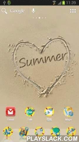 Summer Sand Theme For ADW  Android App - playslack.com ,  Aanvraag voor ADW launcher voor de zomer . Wallpaper toont het zand , en het gedeselecteerde hart , waarin het woord ' zomer ' . Achtergrond van het hoofdmenu van de toepassing wordt ook getrokken hart op het zand . Elk pictogram heeft een gele achtergrond reddingsboei . Belangrijker iconen zijn vervangen door groen en blauw . Afscheid te nemen van de zomer deze toepassing . Laat het u eraan herinneren de mooie momenten die alleen kan…