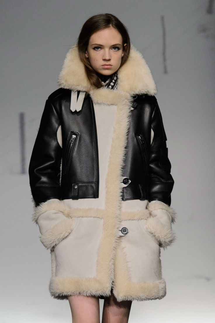 The Best Fall 2015 Runway Pieces From NYFW: Day 1 - The leather and shearling coat at Coach