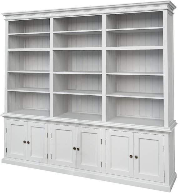 Beachcrest Home Amityville Library Bookcase Mdf E Janelas
