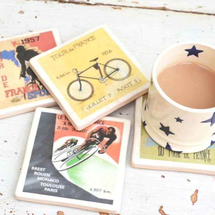 Tour De France Cycling Coasters