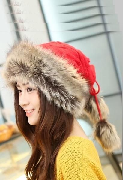 81695efe248c8 Winter Hat Women Fur Cap Warm Plus Velvet Dual Use Hats For Women Thicken  Knitting Caps Ladies Winter Beanie Wool Hat-JetSet-JetSet