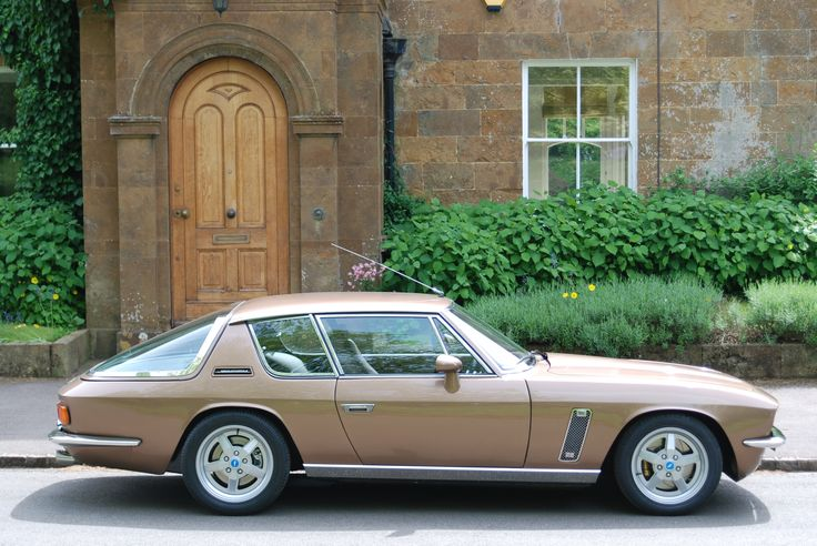 Interceptor R by Jensen International and it's supercharged. Bury your foot in the loud pedal!