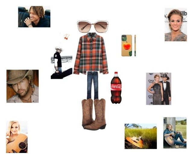 """Country Concert"" by hanna-debruhl on Polyvore featuring Hollister Co., Chloé, Duckfeet, Ariat and country"