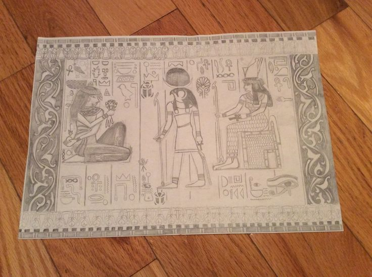 Egyptian drawing - using pencil By: Anna Fan