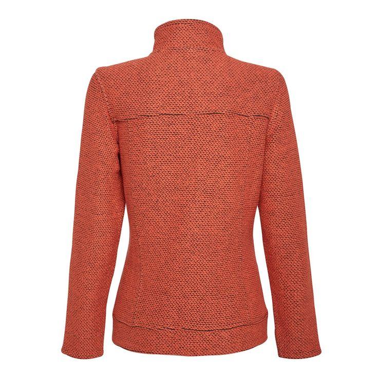 Grayling Full Zip Macaroni Sweatshirt Burnt Orange