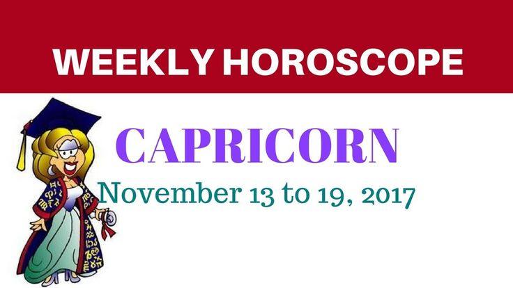 Capricorn Weekly Horoscope - November 13 to 19, 2017  #Capricorn #astrology #horoscope