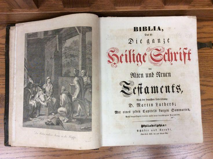 Details about Biblia Ganze Heilige Schrift German Family Bible Peter Metzer Berk…