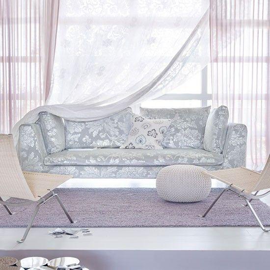 Lilac living room with damask sofa   Modern living room ideas   Living room   PHOTO GALLERY   Livingetc   Housetohome.co.uk
