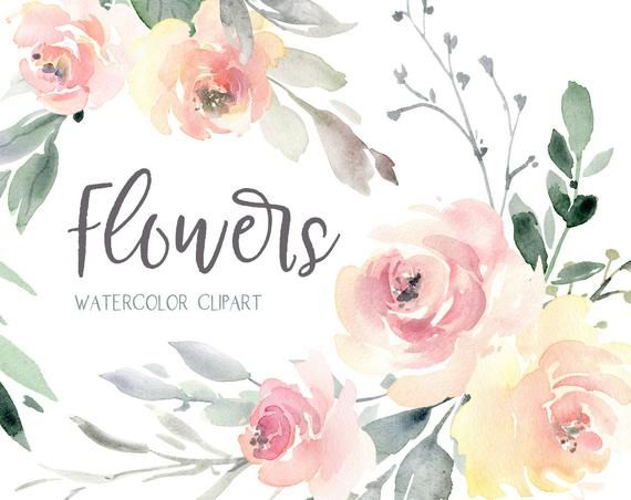 Watercolor Floral Clipart Wedding Free Commercial Use Pink Light Watercolour Flowers Bouquets Seamless Pattern Digital Download Clip Art Png Floral Watercolor Watercolor Flowers Flower Clipart