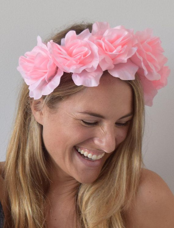 TheHeadwearBoutique on Etsy ( 42 USD)- Isabella Bright Light Pink Floral Headband  Fascinator Pink Kentucky Derby   Oaks Flower Crown be303186b4c