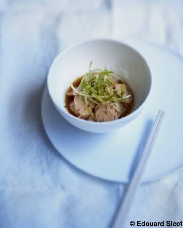 Foie de morue aux agrumes et sauce soja pour 3 personnes - Recettes Elle à Table