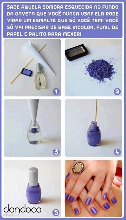 How to make nail polish... Purple nails