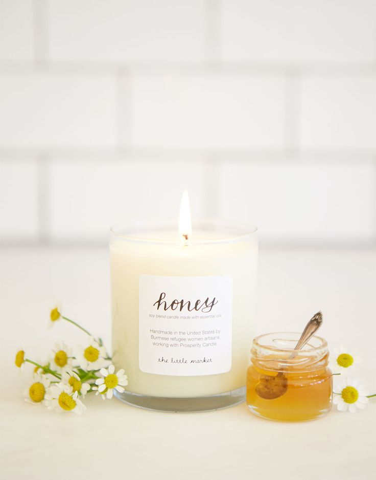 This honey candle smells like a wild honey field {The Little Market}