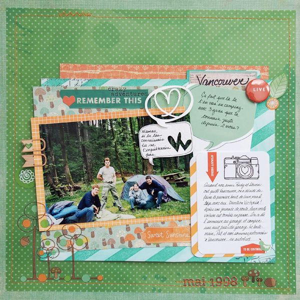 Ideas for Emerald Green on Scrapbook Pages   Harmony and Elegance   Marie-Pierre Capistran   Get It Scrapped
