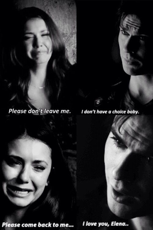 Delena 5x22...gut-wrenching to watch. But I know Damon will be back. I hope they make it an epic return--because it needs it be epic!