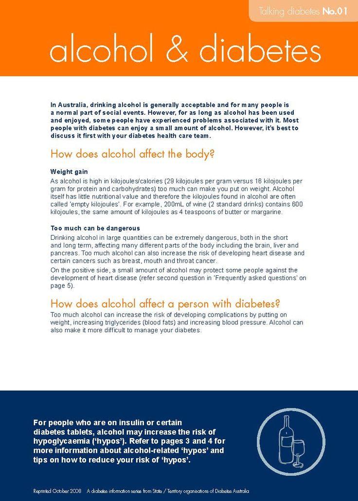 Alcohol - Diabetes Australia