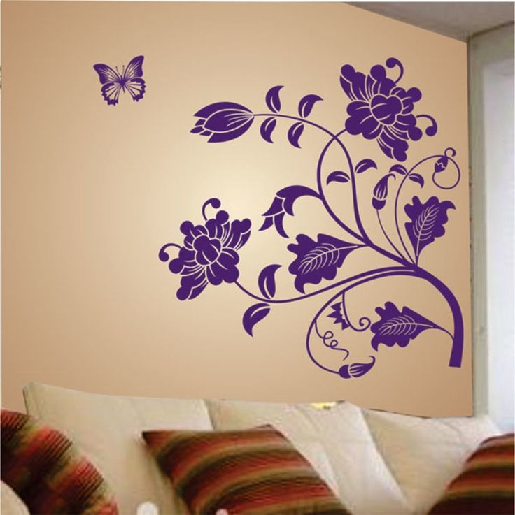 Vine flowers wallstickers amazon india