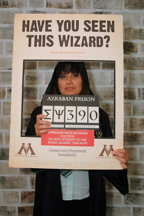 Wizard in Azkaban Prison! DIY Harry Potter photo booth tutorial http://tinyurl.com/p5n78e7