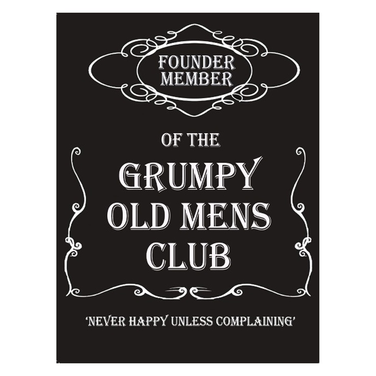 The Original Metal Co. Grumpy Old Men's Club Vintage Sign, Choose From Large/Medium