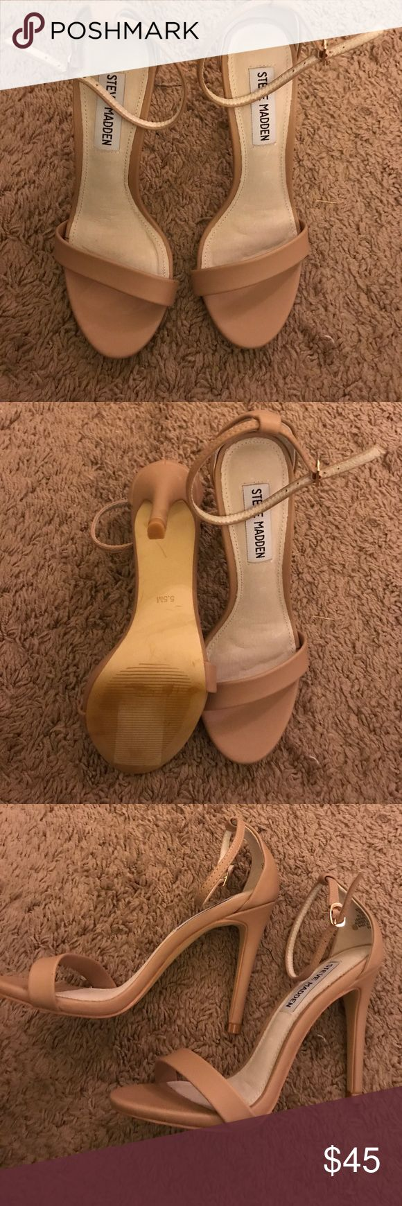 Nude Steve Madden high heels These are beautiful shoes that I bought for a cruise! Barely worn. Never worn outside! Steve Madden Shoes Heels