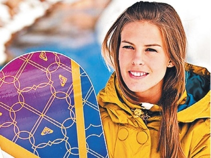 Torah Bright, Snowboarder and medallist.