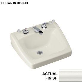 KOHLER Chesapeake White Wall Mount Rectangular Bathroom Sink With Overflow.  Rechteckige Badezimmer WaschbeckenWeiße Wale