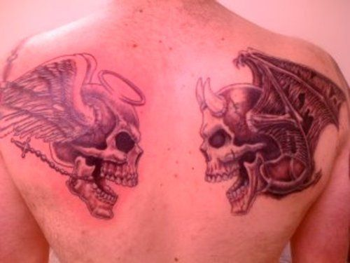 17 Best Images About Good Vs Evil On Pinterest: 17 Best Good Vs. Bad Tattoo Designs Images On Pinterest