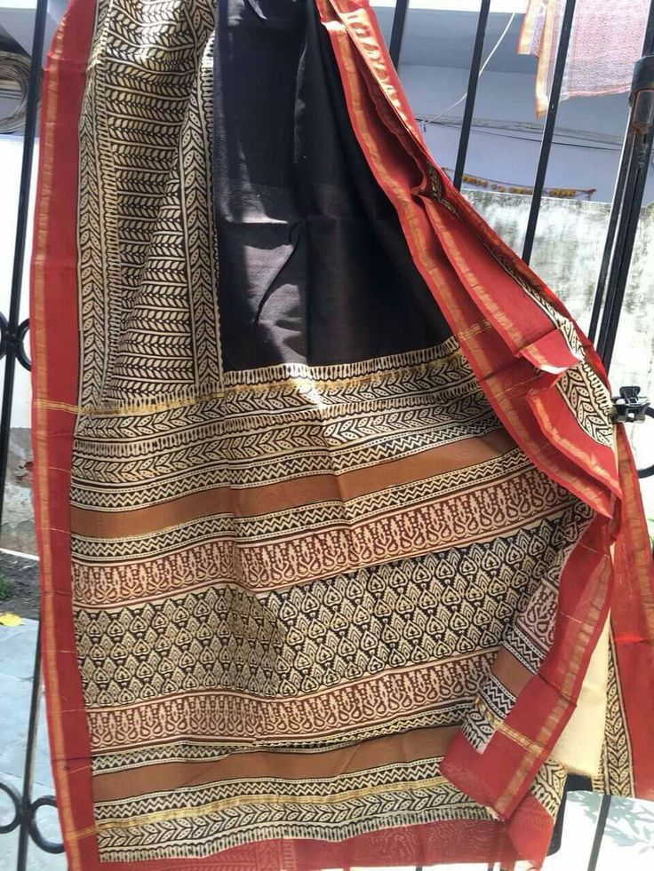 Not yet on our online estore... but available on a very special price offline. Book your saree now... #Chanderi saree #saree #ethnicwear #handloomcotton #womenwear  Chanderi silk cotton block print sarees