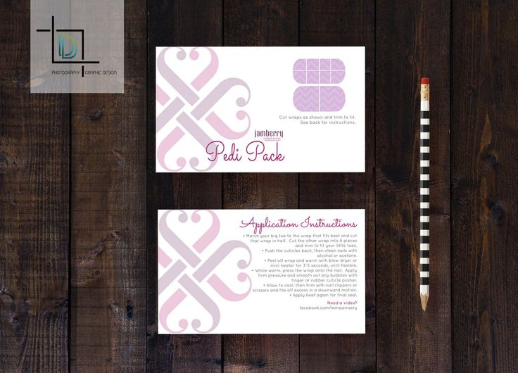 Jamberry Pedi Pack front Template - Independent Consultant Business Br – digitaldetours