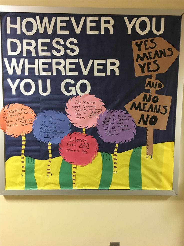Dorm Bulletin Board For Ual Ault Awareness