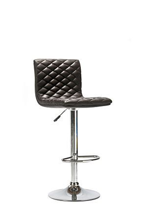 Our diamond stitch bar chair is designed for comfort and looks perfectly placed in a modern setting. PU seat, stable chrome plated metal base, adjusts to your preferred height and looks great