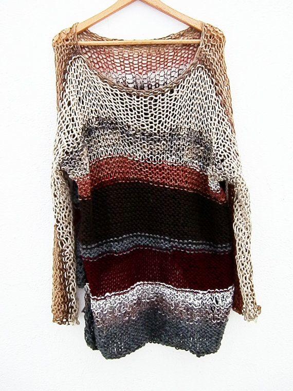 Suéter de Punto Suelto estilo Grunge por armarioenruinas en Etsy, $42.00