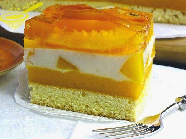 """z cukrem pudrem: ciasto """"Brzoskwiniowa fantazja"""""""