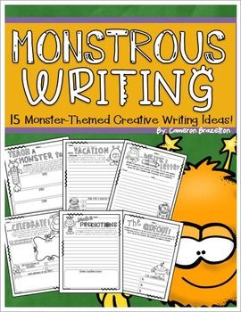 A creative writing freebie for AFTER Halloween       education     Pinterest Creative Writing with Halloween Prompts