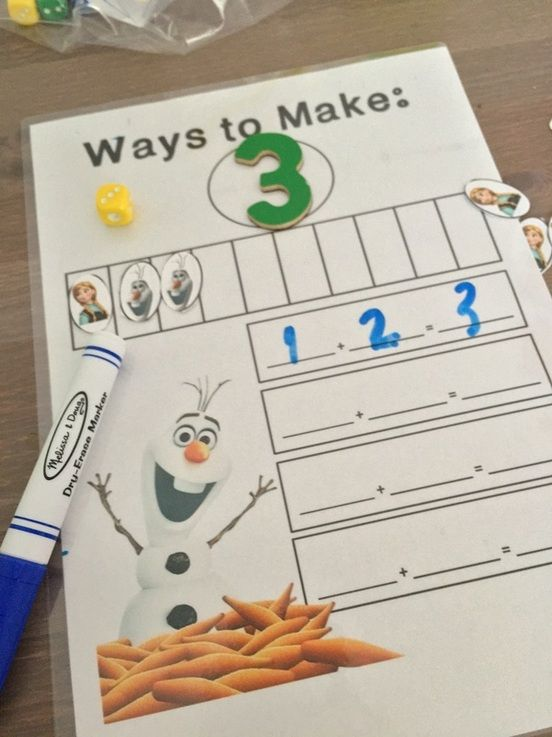 Sea of Knowledge's Free Snowman Making Numbers Mat   This mat is so much fun to use to teach kids fact families and number sense. Have the student roll a die and construct the number on the mat using different addition equations to get the total number. For instance for the number 3: 2  = 3 0  3 = 3 and so on    You can download this mat FREE at this blog post HERE.  Yara  Sea of Knowledge  counting math mats numbers