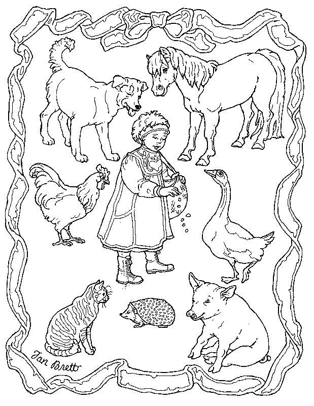 Différents animaux de la ferme