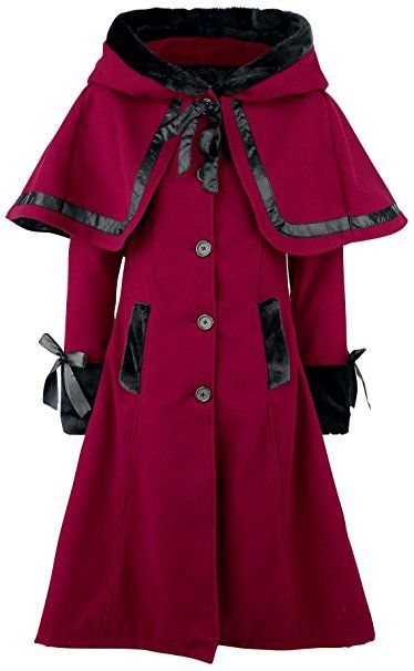 Vixxsin Elena Coat Girl-Mantel rot S