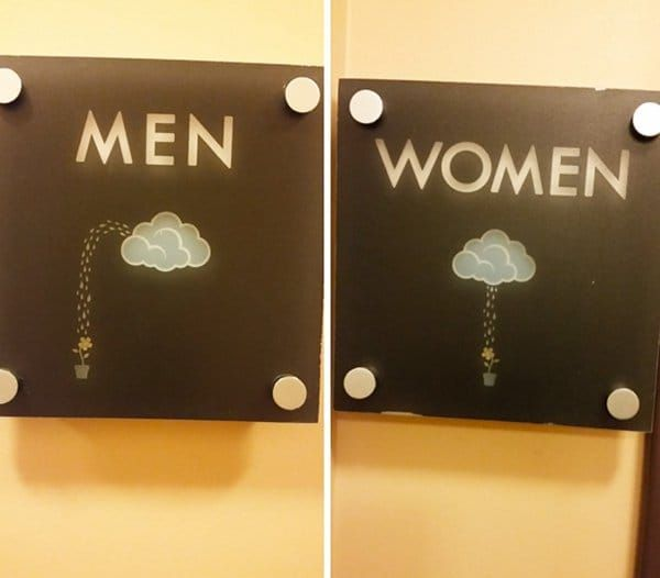 28 People Share The Coolest Bathroom Signs They Ve Seen Funny