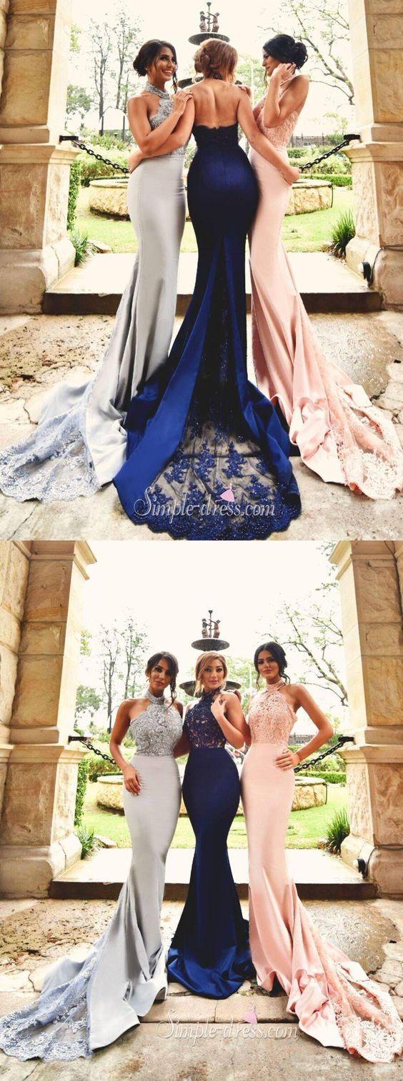 sexy mermaid long prom dress 2016, bridesmaid dress, pink prom dress, navy prom dress, wedding party dress: