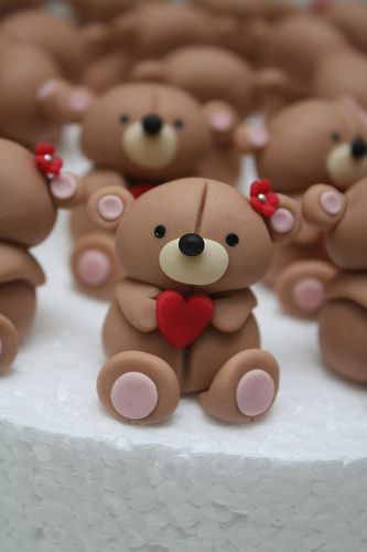 I used to make teddy bears from Femo clay - these reminded me of that! - teddy bear sugar models