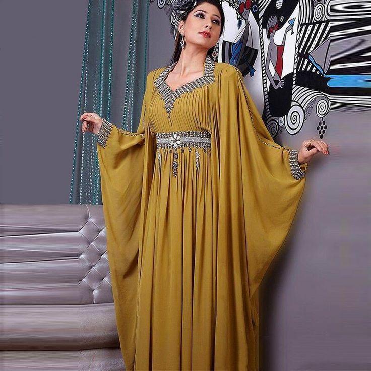 Fancy Arabic Dubai Moroccan Kaftan Dress Marocain Evening Dresses Turkish Women Clothing Robe De Soiree Fashion Abayas Kaftans