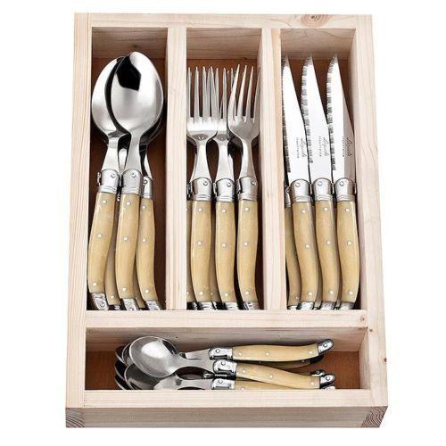 Laguiole-Jean-Neron-Cutlery-Set-24-Piece-Light-Horn