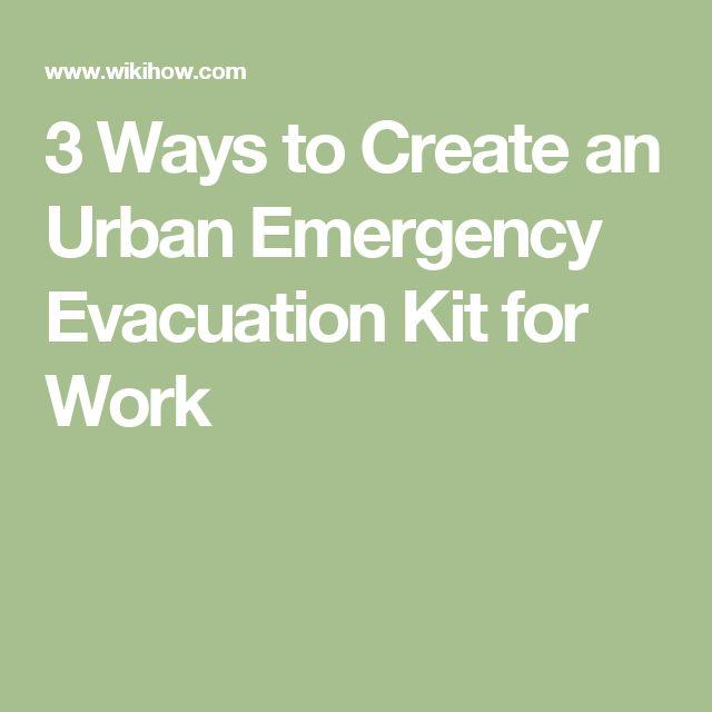 how to make an emergency evacuation plan