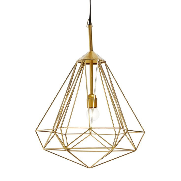$265, abchome.com   For the Design Enthusiast Pendant lights hit their peak in 2015. An artfully-crafted iron frame gives this multi-faced light a true gilded gleam. Think of it as statement jewelry for the home.    - BestProducts.com