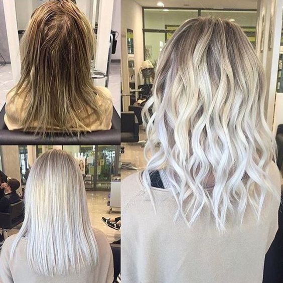 Icy Platinum Blonde Hair Color