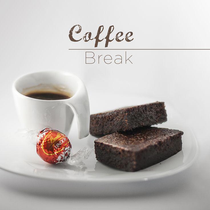 #coffee #break #chocolate #brownies #espresso #food #photorgraphy #lindt #lindor #cake #coffeeaddicted