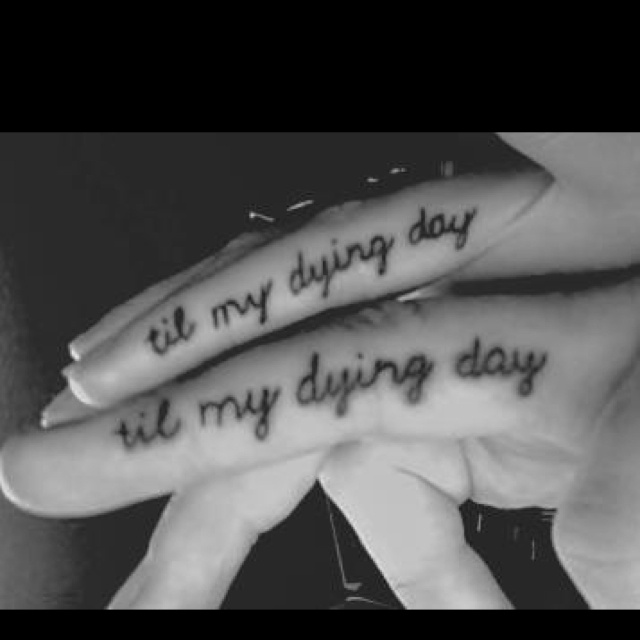 Sometimes I wish Mike would get tattoos similar to this, something cute that we share, not necessary exactly the same, but something with meaning. But he thinks its too girly and cheesy :(