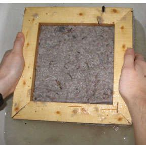 making paper from dryer lint!