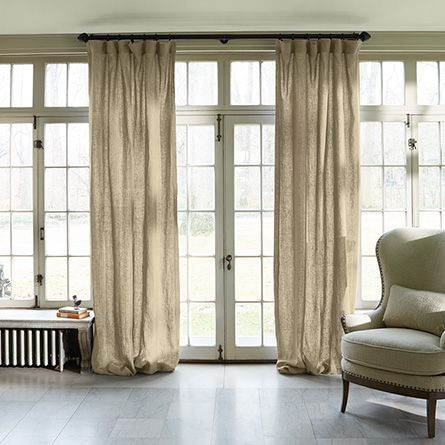 "Classic Linen Drape in Natural | Arhaus Furniture 100"" x120"""
